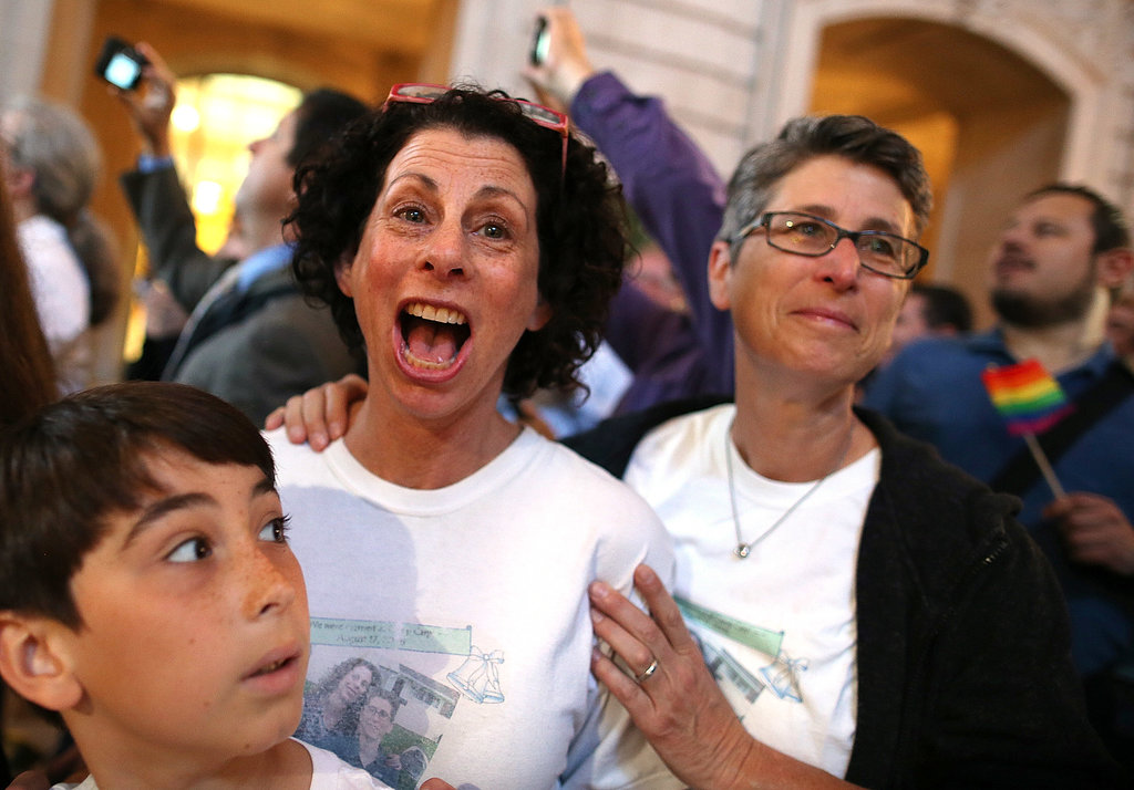 In SF, couples and activists celebrated the Supreme Court's rulings on DOMA and Prop 8.
