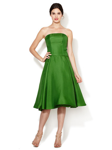 Strapless Silk Flared Dress