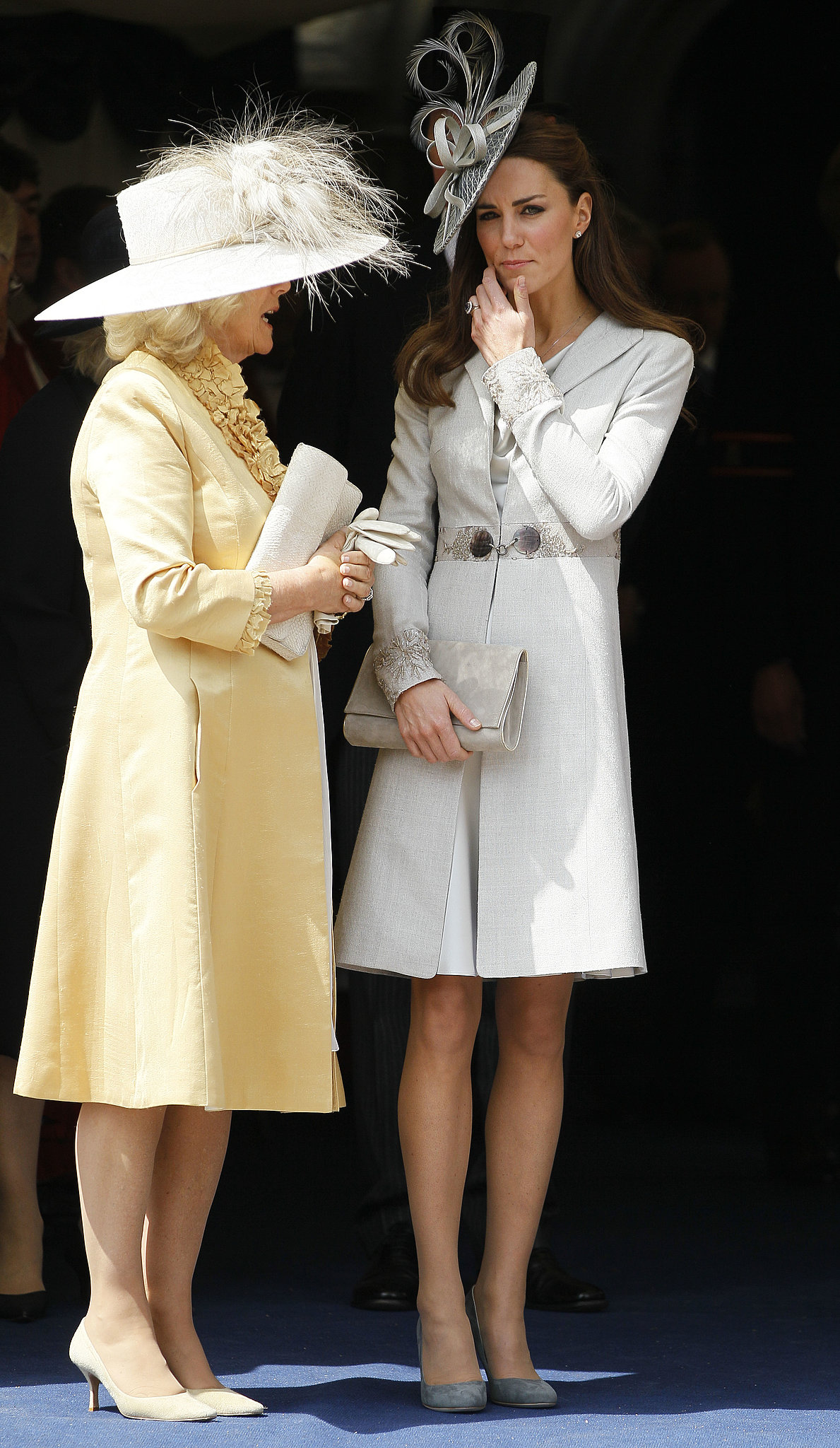 Kate chatted with Camilla while watching the Garter Service pass by in Windsor, England, in June 2011.