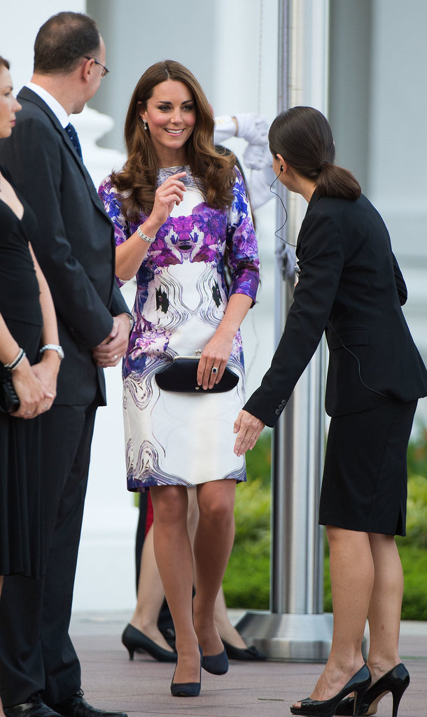 She attended a welcome ceremony in her honor during her September 2012 visit to Singapore.
