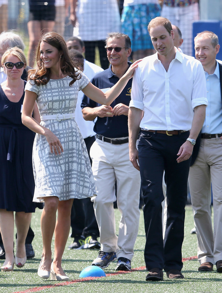In July 2012, the duchess joked around with her duke during their visit to Bacon's College in London.