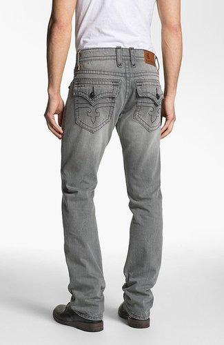 Rock Revival 'Ewan Alternative' Straight Leg Jeans (Grey)