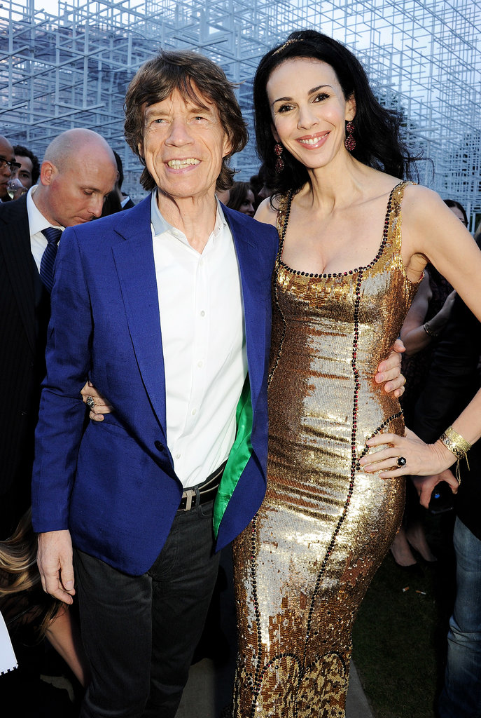 Mick Jagger posed with his girlfriend, designer L'Wren Scott.