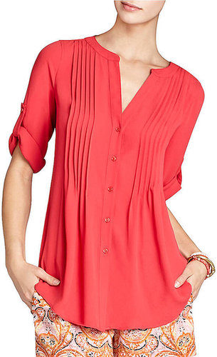 BCBGMAXAZRIA Twiggy Pintucked Tunic