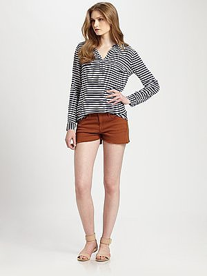 Splendid Striped Cargo Shirt