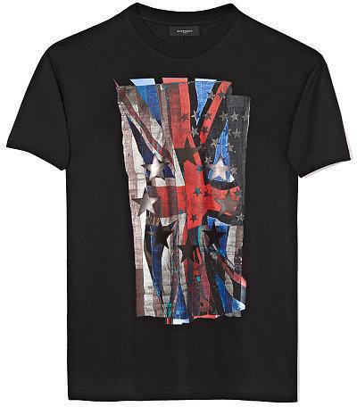 Givenchy Black Union Jack T-Shirt