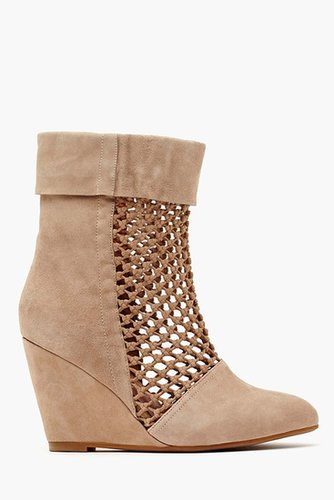 Ashia Wedge Boot - Taupe