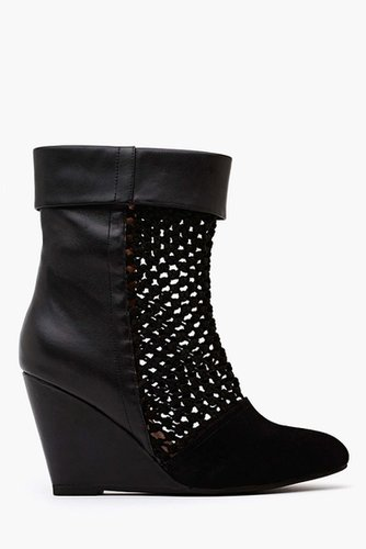 Ashia Wedge Boot - Black