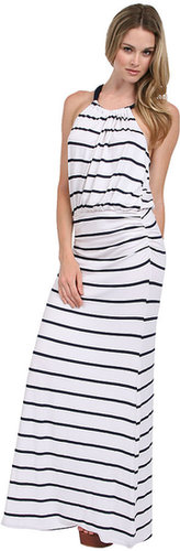 Everleigh Stripe Dress in Navy/White