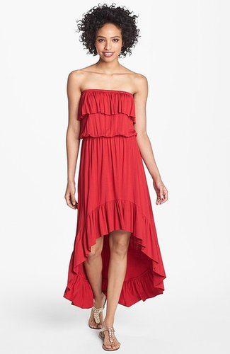 FELICITY & COCO Ruffled High/Low Maxi Dress