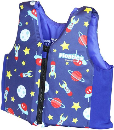 Floaties The Original Swim Vest Blue Rockets - Medium
