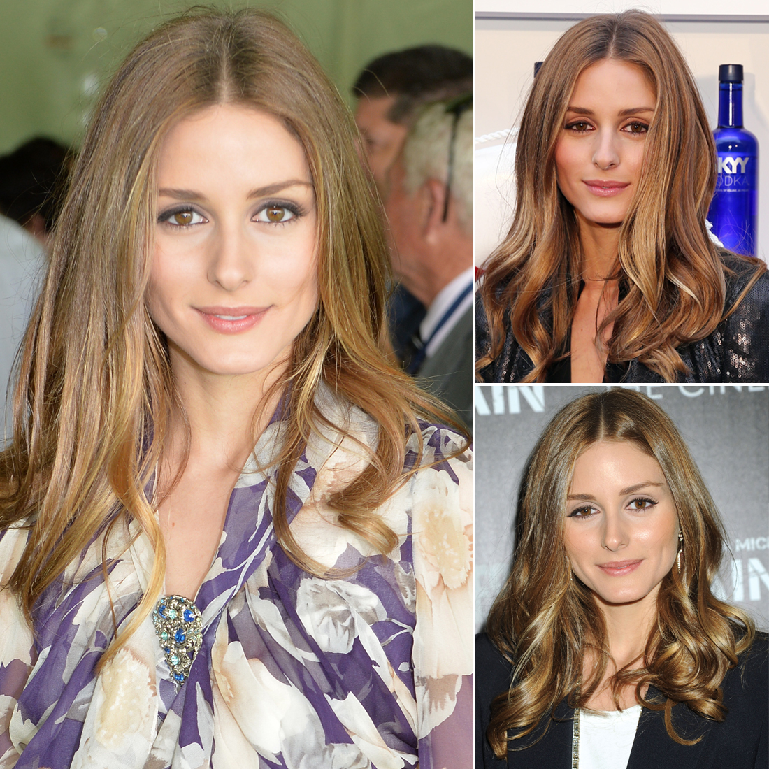 Who: Olivia Palermo The look: Loose, center-parted waves and simple eyeliner The popular socialite has an obvious penchant for the classics when it comes to both her beauty and fashion aesthetics. Olivia's no-muss hair and makeup looks prove that minimal effort goes a long way.