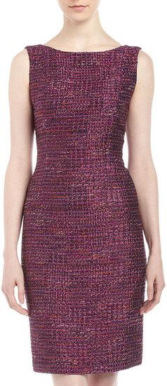 Lafayette 148 New York Meldic Tweed Sheath Dress
