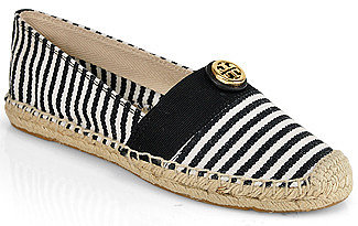 Tory Burch - Beacher - Flat Espadrille in Black Canvas