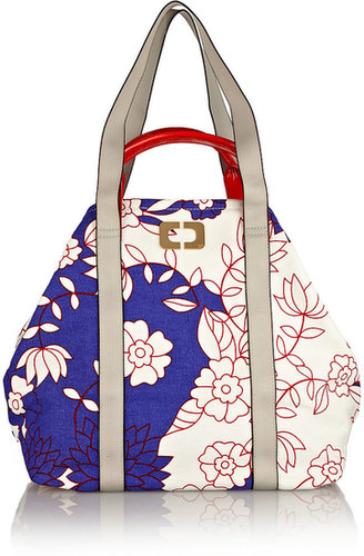 Diane von Furstenberg Kaya printed cotton-canvas shopper