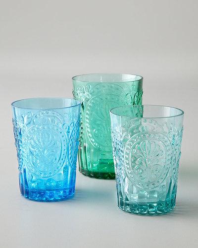 Six Fleur-de-Lis Juice Glasses