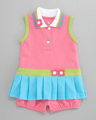 Florence Eiseman Bright Mix Pique Dress, 3-9 Months