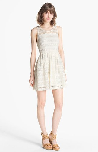 BB Dakota 'Jacynth' Crochet Fit & Flare Dress