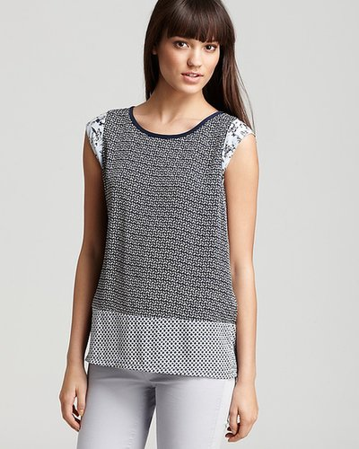 Joie Top - Larter Mixed Graphic Printed