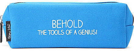 Behold the Tools of a Genius pencil case