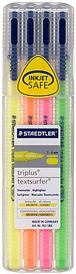 Staedtler Triplus Highlighter Pens, Pack of 4