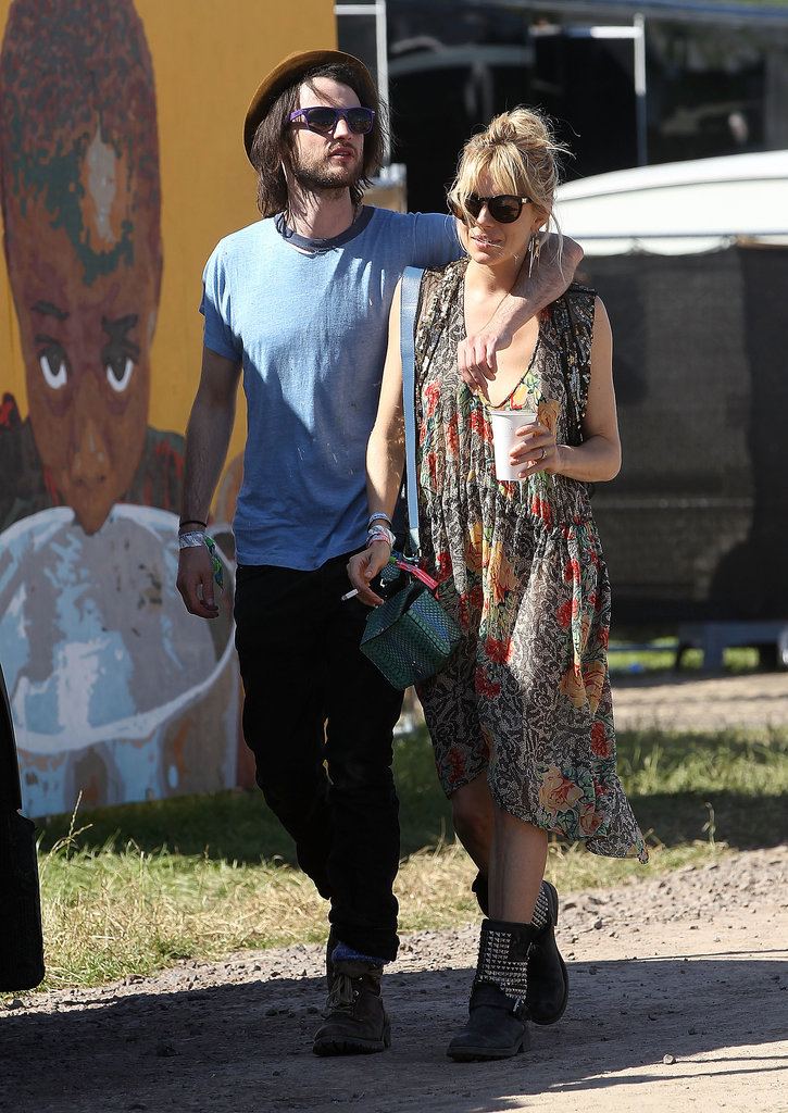Sienna Miller met up with Tom Sturridge on the second day of the festival.