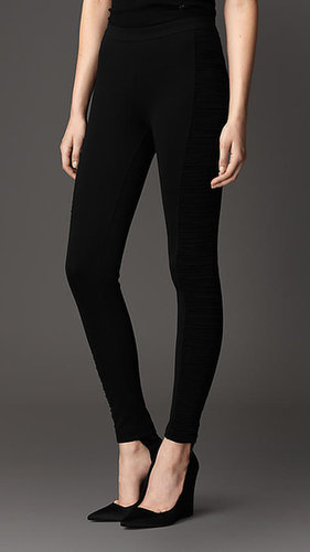 Ruched Panel Corset-Jersey Leggings