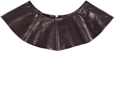 Preorder Opening Ceremony Dakota Seamed Leather Peplum In Black