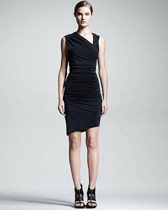 HELMUT Helmut Lang Ruched Asymmetric Dress