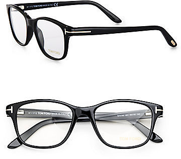 Tom Ford Eyewear Wayfarer-Inspired Square Plastic Eyeglasses