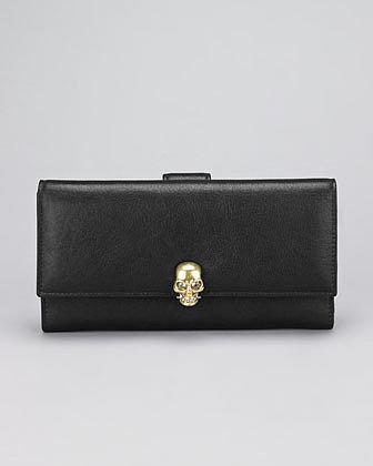 Alexander McQueen Skull-Detailed Fold Wallet