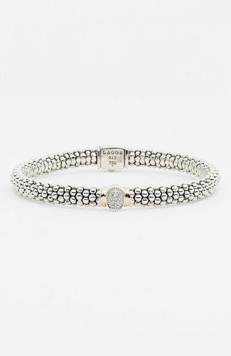Lagos 'Twilight' Caviar Diamond Rope Bracelet
