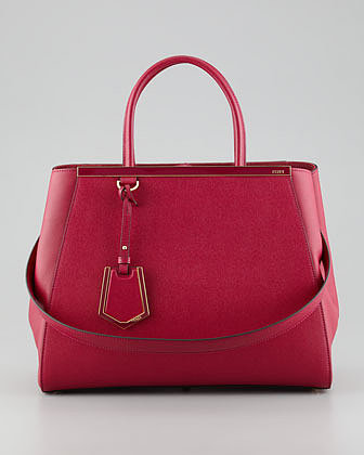 Fendi 2Jours Medium Tote Bag, Red
