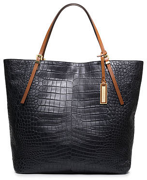 Michael Kors  Large Gia Crocodile-Embossed Tote