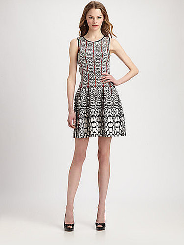ISSA Printed Fit-And-Flare Stretch Jersey Dress