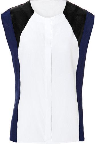 Sandro Silk Elie Top in White