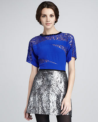 Nanette Lepore Disco Lady Sequined Skirt