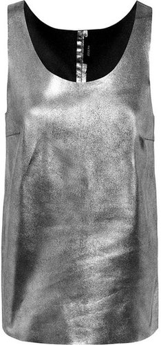 Joseph Deborah metallic-leather tank