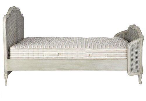 King Size Madeleine Bed, Wood Frame - Grey