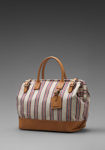 """Billykirk 16"""" Carryall in Red White Blue W/Russet"""