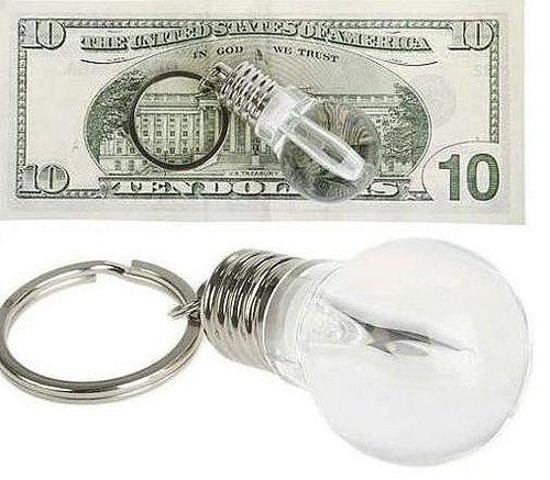 Cute Light Bulb Shaped LED Flashlight Keychain - feelgift.com