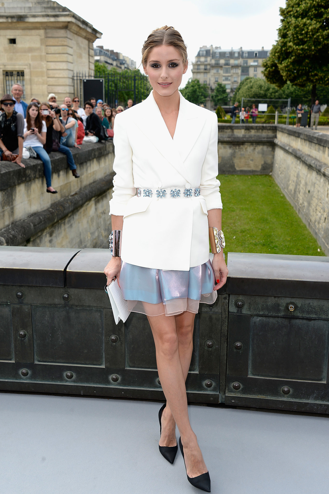 Looking stylish as ever in Dior, Olivia Palermo made the rounds at the label's show.