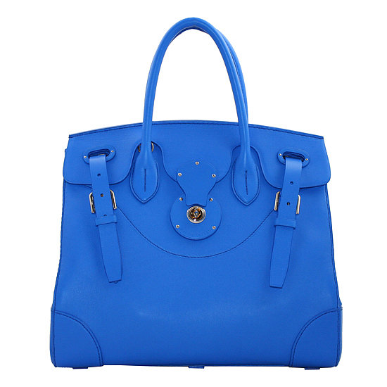 Take one part classic handbag, one part bright color, and one part ultraluxurious (and, yes, ultraexpensive) leather, and you've got the perfect Summer bag, otherwise known as the Ralph Lauren Soft Ricky ($2,500). — RK