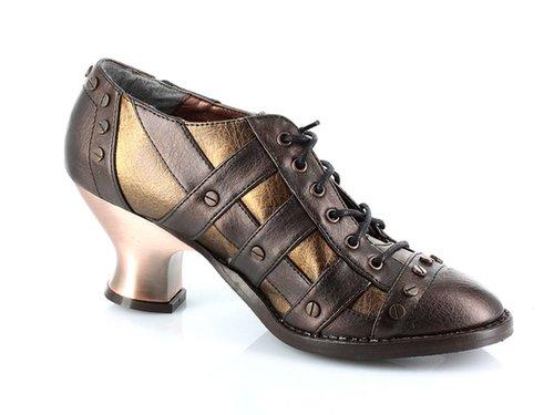 "Hades Shoes H-Jade, 2.5"" Heel Lace up Retro Oxford:Satin-Boutique.com"