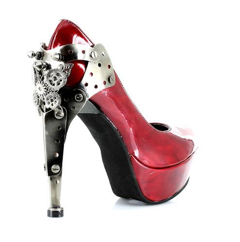 "Hades Shoes H-Eiffel, 5"" Platform Heel Steampunk Patent Pump:Satin-Boutique.com"