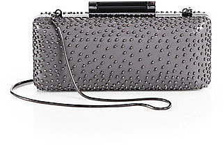 Diane von Furstenberg Tonda Studded Leather Shoulder Clutch