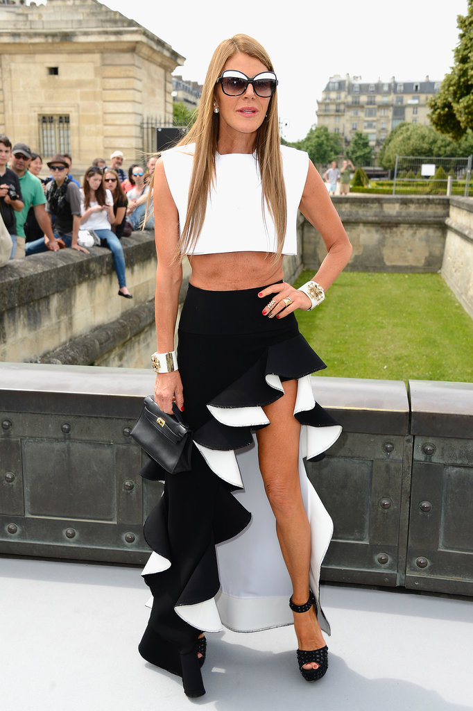 A ruffle-clad Anna Dello Russo proved making a statement's second nature for her at Dior Haute Couture.