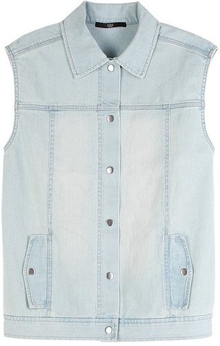 Vintage Wash Denim Vest