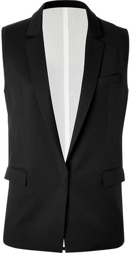 See by Chloé Black Wool Tuxedo Gilet