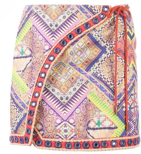 Matthew Williamson embroidered mini skirt